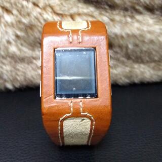 ディーゼル(DIESEL)の【ディーゼル】レザー 腕時計(腕時計(デジタル))