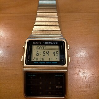 カシオ(CASIO)のあだち様専門値下げ カシオ データバンク ゴールド(腕時計(デジタル))