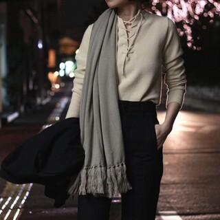コモリ(COMOLI)のAURALEE 14.5μ Wool Rib Knit Lace-up(ニット/セーター)