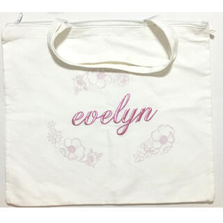 エブリン(evelyn)のエブリン トートバッグ 白/ホワイト ピンク(トートバッグ)