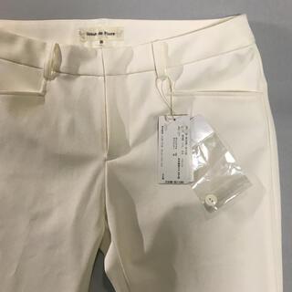 デビュードフィオレ(Debut de Fiore)のデビュードフィオレ タグ付き 未使用 パンツ ホワイト(クロップドパンツ)