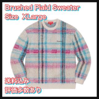 シュプリーム(Supreme)の【XL】 Brushed Plaid Sweater(ニット/セーター)