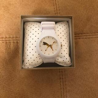 プーマ(PUMA)の【新品未使用】⭐️PUMA腕時計⭐️ ホワイト×ゴールド残り1点🙌🏻(腕時計)