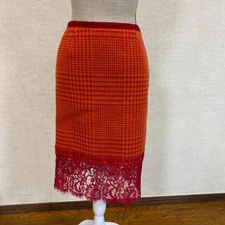 サカイ(sacai)のsacai レース スカート(ひざ丈スカート)