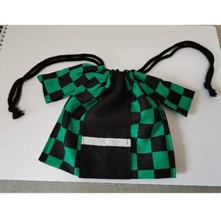 鬼滅の刃 市松模様羽織型巾着袋(外出用品)