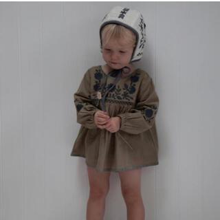 キャラメルベビー&チャイルド(Caramel baby&child )の新品 apolina チュニックセット sage 18-24M(ロンパース)