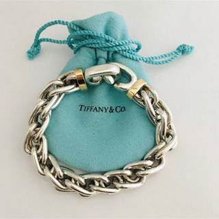 Tiffany & Co. - Tiffany&co. Silver 18K Heavy Bracelet