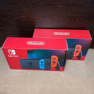 ニンテンドースイッチ(Nintendo Switch)のニンテンドースイッチ本体 ネオンブルー&レッド HAD-S-KABAA 2台(家庭用ゲーム機本体)