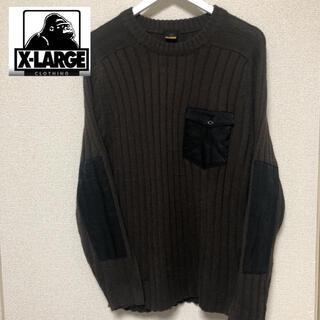 エクストララージ(XLARGE)のXLARGEのニット  茶色(ニット/セーター)