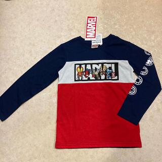 マーベル(MARVEL)のマーベル アベンジャーズ 130 ロンT 紺色 赤色 男の子(Tシャツ/カットソー)