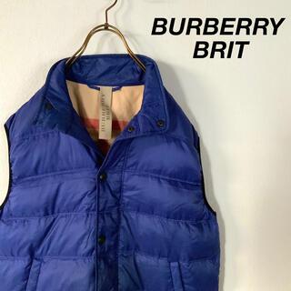 バーバリー(BURBERRY)のBURBERRY BRIT メガチェック ダウンベスト ノバチェック(ダウンベスト)