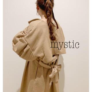ミスティック(mystic)のお袖のボリュームが可愛い❤︎ヨークギャザーコート キャメル(ロングコート)