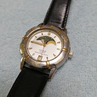 カシオ(CASIO)のCASIO ムーンフェイズ ダイバー 腕時計(腕時計(アナログ))