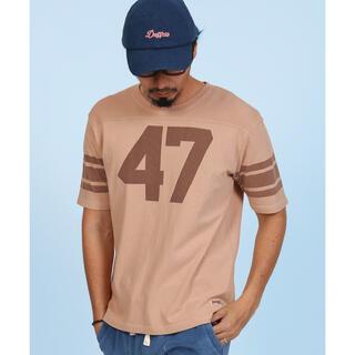 ザダファーオブセントジョージ(The DUFFER of ST.GEORGE)のピグメント フットボールTシャツ M(Tシャツ/カットソー(半袖/袖なし))