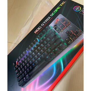 エイスース(ASUS)のROG Strix Scope TKL 銀軸 [Black/Gray](PC周辺機器)