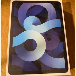アップル(Apple)のipad air 4th 最新モデル 64G simフリー スカイブルー(タブレット)