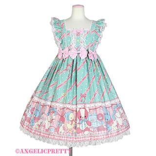 アンジェリックプリティー(Angelic Pretty)のメロディトイズ★ミントジャンパースカート(ひざ丈スカート)
