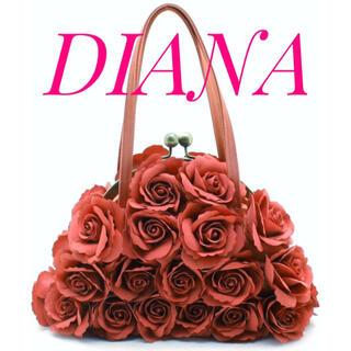 ダイアナ(DIANA)のDIANA ダイアナ【美品】薔薇 コサージュ ハンド バッグ 結婚式 二次会(ハンドバッグ)