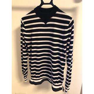 サカイ(sacai)のsacai サカイ 裾ドローコートボーダーカットソー(Tシャツ/カットソー(半袖/袖なし))