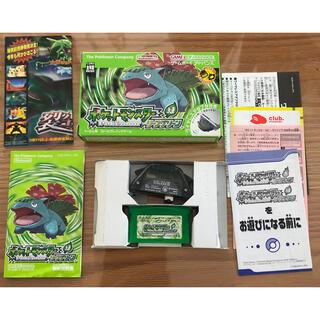 ゲームボーイアドバンス(ゲームボーイアドバンス)のポケットモンスター リーフグリーン(携帯用ゲームソフト)
