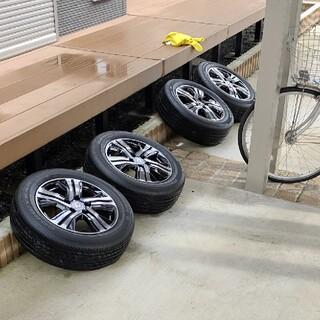 グッドイヤー(Goodyear)の希少 ステップワゴンスパーダハイブリッド ブラックスタイル 純正タイヤ(タイヤ・ホイールセット)