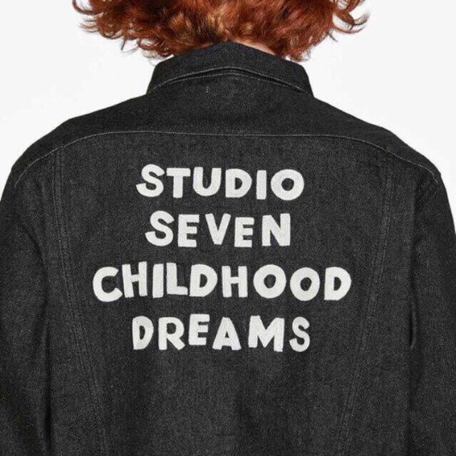 三代目 J Soul Brothers(サンダイメジェイソウルブラザーズ)のGU x STUDIO SEVEN コラボ デニムジャケット Lサイズ メンズのジャケット/アウター(Gジャン/デニムジャケット)の商品写真
