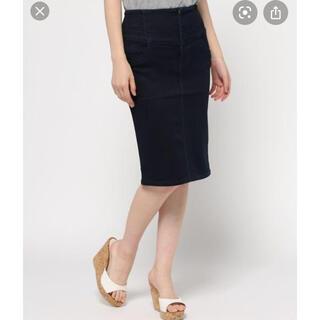 ムルーア(MURUA)のMURUA デザイン切替ミドルタイトスカート(ひざ丈スカート)