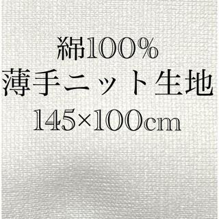綿100% 薄手ニット 綿生地 伸縮性(生地/糸)