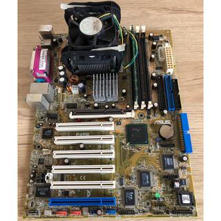 エイスース(ASUS)のASUS P4PEマザーボード・pentium4CPU・CPUクーラー・メモリ(PCパーツ)