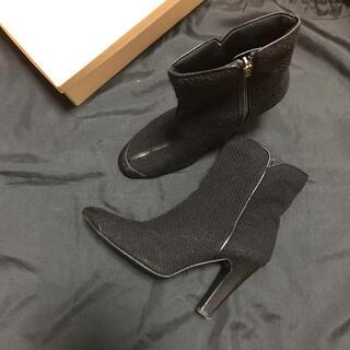 マルティニークルコント(martinique Le Conte)のウールレザー異素材ブーツ ブラック(ブーツ)