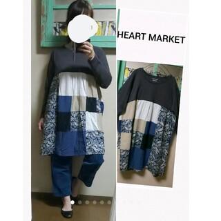 ハートマーケット(Heart Market)の(セール)ほぼ未使用HEART MARKETハートマーケット パッチワークワンピ(ひざ丈ワンピース)