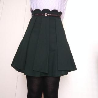 パターンフィオナ(PATTERN fiona)の秋冬スカート モスグリーン Mサイズ パターンフィオナ(ミニスカート)