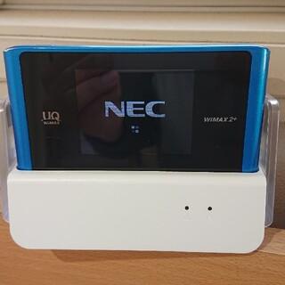 エヌイーシー(NEC)のUQ MAX2+ Wi-Fiルータ WX04 本体+専用クレードル(その他)