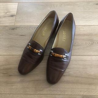 グッチ(Gucci)のオールドGUCCI バンブーローファー(ローファー/革靴)