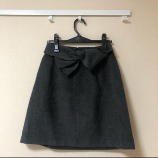 ファビュラスアンジェラ(Fabulous Angela)のリボン取り外し台形スカート(ひざ丈スカート)