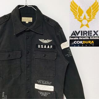 AVIREX - 美品!アヴィレックスコーデュラ  ステンシル ミリタリーシャツジャケット