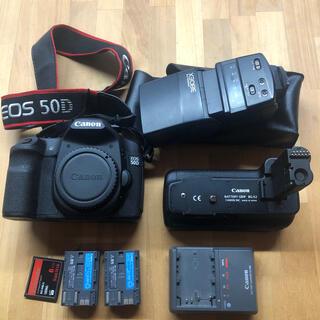 キヤノン(Canon)のcanon eos 50d 本体 バッテリー 充電器 グリップ  ストロボ(デジタル一眼)