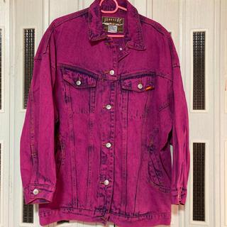ウィゴー(WEGO)のケミカル紫色 デニムジャケット Gジャン(Gジャン/デニムジャケット)