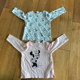 エイチアンドエイチ(H&H)の【2枚セット❗】【H&M】ロングTシャツ 70cm ミニーちゃん(Tシャツ)