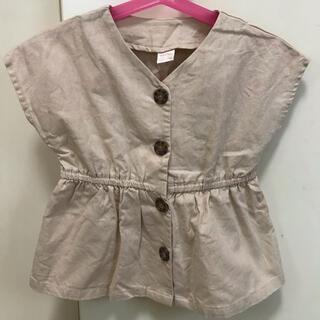 フタフタ(futafuta)のテータテート  トップス リネン 前ボタン(Tシャツ/カットソー)