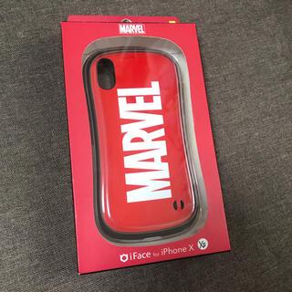 マーベル(MARVEL)のiFace iPhoneXS、X専用 marvel マーベル  ロゴ 赤 正規品(iPhoneケース)