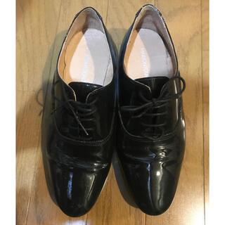 イエナスローブ(IENA SLOBE)の【お値下げ】IENA SLOBE パテントレースアップシューズ(ローファー/革靴)