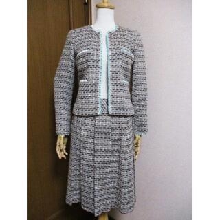 エムズグレイシー(M'S GRACY)の試着程度☆エムズグレイシー M'S GRACY ツィードスカートスーツ 40 M(スーツ)