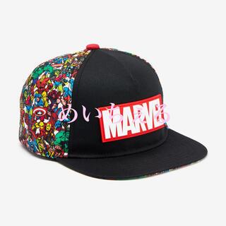 マーベル(MARVEL)の【新品】ブラック MARVEL キャップ(ボーイズ)(帽子)