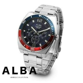 セイコー(SEIKO)の【欧州限定品 一点のみ❗】早い者勝ち❗ メンズ 高級腕時計 青 赤【新品】(腕時計(アナログ))