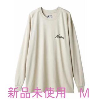 トリプルエー(AAA)のnaptime. フォトプリントロングシャツ ベージュ(Tシャツ/カットソー(七分/長袖))