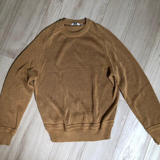 ユニクロ(UNIQLO)のユニクロU メンズ ドライタッチサマークルーネックセーター(長袖)(ニット/セーター)