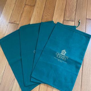 クロケットアンドジョーンズ(Crockett&Jones)のCROCKETT&JONES 保存袋 巾着袋 4枚セット(ショップ袋)