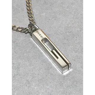 グッチ(Gucci)のGUCCI グッチ Gカット シルバー ネックレス 中古 美品 (14)(ネックレス)