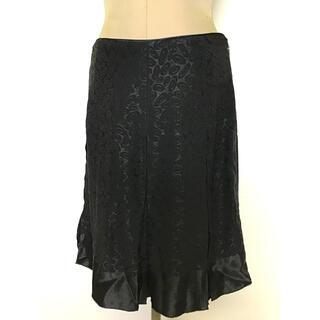 アナスイ(ANNA SUI)のアナスイ 地模様ブラックスカート(ひざ丈スカート)